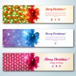 Set of stylish Christmas banners — Stock Vector
