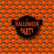 Halloween party button-tufted background with skulls — Image vectorielle