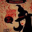 Halloween party plakat — Grafika wektorowa