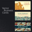 Set of business cards — Vector de stock