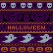 Knitted Halloween seamless pattern — Stockvektor