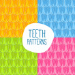 Seamless teeth pattern. Easy to change colors — Stock Vector