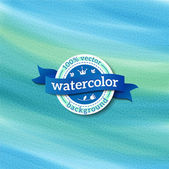 Blue vector watercolor background — Stock Vector