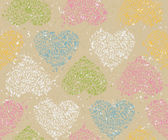 Seamless pattern with floral hearts — Stock Vector