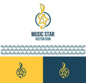 Music star (logo idea) — Stock Vector