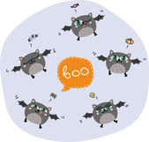 Halloween flying bats — Stock Vector