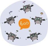 Halloween flying bats — Stock Vector