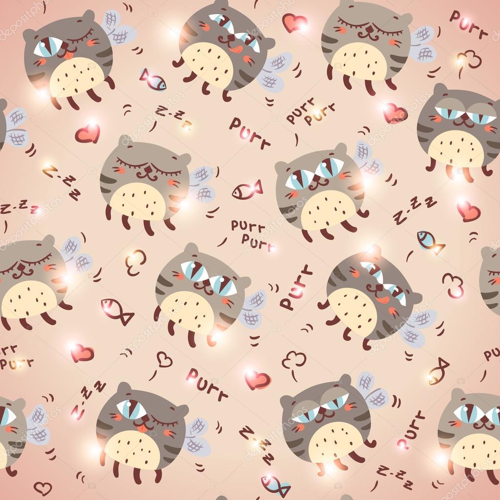 Бумага для скрапбукинга с котами