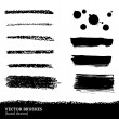 Set of brush strokes. — 图库矢量图片 #36997049