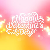 Happy Valentine's Day lettering Greeting Card with plenty place — Stock Vector