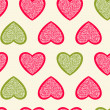 Stock Vector: Hearts seamless pattern.