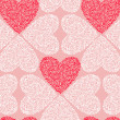 Vector seamless pattern of Valentine's Day in pastel colors. — Stock Vector #37949429