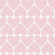 Vector seamless pattern of Valentine's Day in pastel colors. — Stock Vector