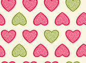 Hearts seamless pattern. — Stock Vector