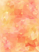 Light orange abstract polygonal background. — Stock Vector