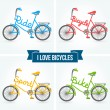 Bicycles. — Vector de stock