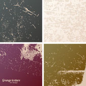 Collection of grunge textures. — Stock Vector