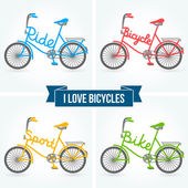 Bicycles. — Stock Vector