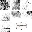 Big collection of grunge textures isolated on white. — Stock Vector