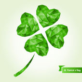 St. Patrick's day background with clover. — Stock Vector