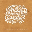 Happy Easter lettering Greeting Card. — Stock Vector