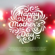 Happy Mothers Day lettering Greeting Card. — Stock Vector