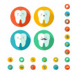 Teeth with dental icons. — Stock Vector