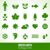 Set of ecology icons about nature. — Stock Vector