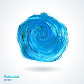 Abstract blue gouache paint. — Stock Vector