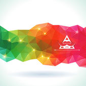 Triangle pattern background. — Stock Vector