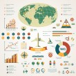 Travel infographics with data icons and elements. — Vettoriale Stock