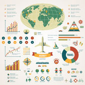 Travel infographics with data icons and elements. — Vecteur