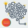 Creative concept of the human brain, vector illustration. — Stock Vector #49436099