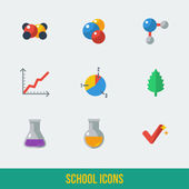School and Education Icons. — Vettoriale Stock