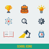 School and Education Icons. — Stok Vektör
