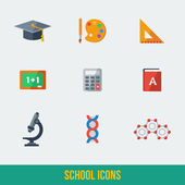 Modern flat icons vector collection. — Stockvektor