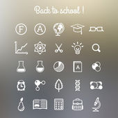School and Education Icons. — Stock Vector