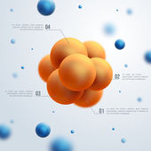 Abstract molecules design. — Stock Vector