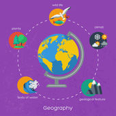 Geography infographics elements. — Vector de stock