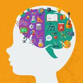 Creative brain Idea. — Stock Vector