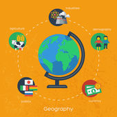 Geography infographics elements. — Stock Vector