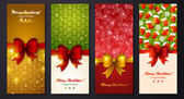 Christmas greeting cards. — Vettoriale Stock