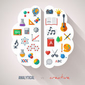 Creative Brain Idea. — Vector de stock