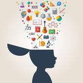 Creative concept of education. — Stock Vector