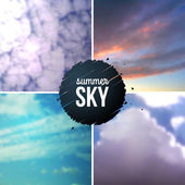 Blue sky with clouds. — Stock Vector