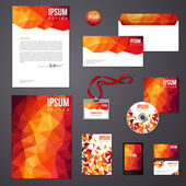 Orange corporate identity template. — Stock Vector