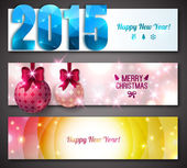 New Year 2015 Banners. — Stok Vektör
