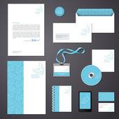 Ileti örneği tasarım şablonu. — Stok Vektör