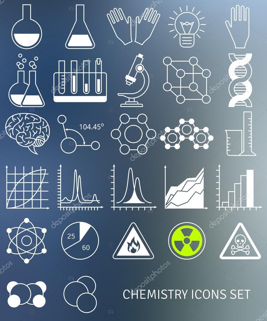 科学和教育的元素.化学试管图标— 矢量图片作者 kotoffei