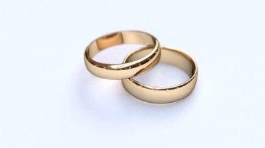 Wedding rings — Stockvideo